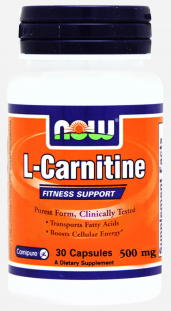 NOW L- Carnitine Fitness Support 500 мг (30 кап)