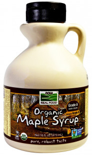 Сироп NOW Maple Syrup Grade A Dark Organic 16 oz (473 мл)