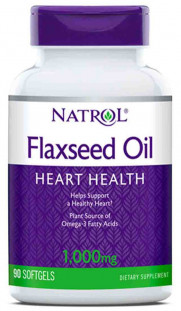 Natrol Omega-3 Flaxseed Oil 1000 мг (90 кап)