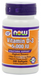 NOW Vitamin D-3 5000 М.Е. (240 кап)